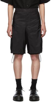 Prada Black Nylon Side Zip Shorts