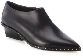 IRO Festano Leather Point Toe Booties $607 thestylecure.com