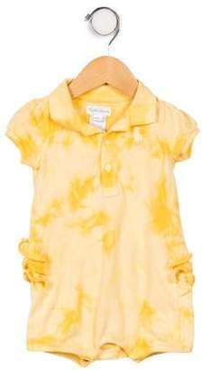 Ralph Lauren Infant Girls' Short Sleeve Point Collar All-In-One