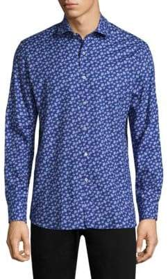 Vilebrequin Floral Tailored-Fit Cotton Button-Down Shirt