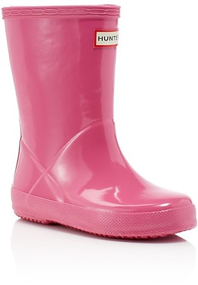 Hunter Girls' Original Kids First Gloss Rain Boots - Walker $55 thestylecure.com