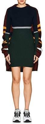 Y/Project Women's Striped Wool-Blend Sweaterdress - Navy