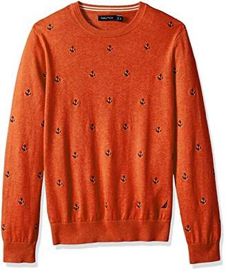 Nautica Men's Long Sleeve Crew Neck Sweater