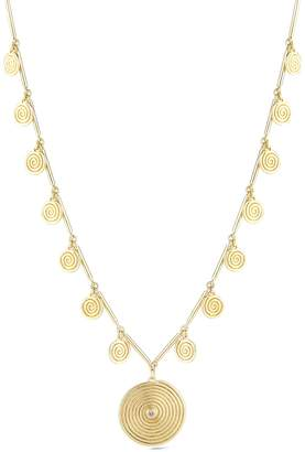 Elizabeth and James Gold Plated Spiral Pendant Ashlyn Necklace