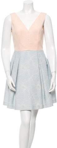 Paule KaPaule Ka Embroidered V-Neck Dress w/ Tags