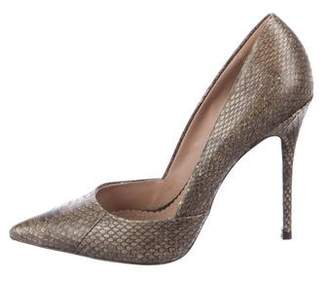 Jean-Michel Cazabat Embossed Pointed-Toe Pumps