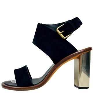 Celine Navy Leather Sandals