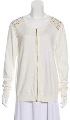 MICHAEL Michael Kors Zip-Up Knit Cardigan