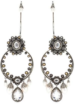 Alexander McQueen Armour clip-on earrings