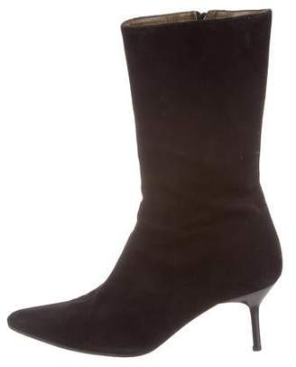 Barneys New York Barney's New York Suede Pointed-Toe Boots