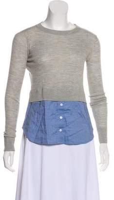 Veronica Beard Combo Long Sleeve Sweater