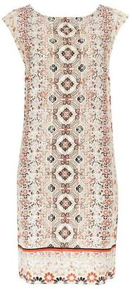 Wallis Red Embellished Tile Print Shift Dress