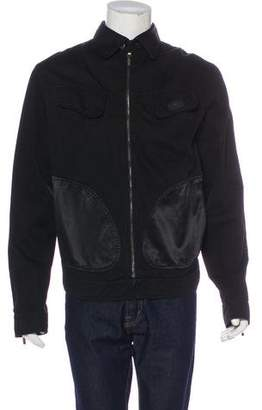 Emporio Armani Collared Zip-Up Jacket