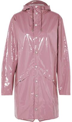 Rains Hooded Glossed-pu Raincoat