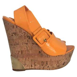 Louis Vuitton Orange Patent leather Heels