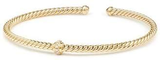 David Yurman Renaissance Center Station Bracelet with Diamonds in 18K Gold