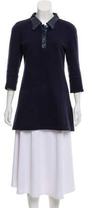 Courreges Embroidered Long Sleeve Tunic
