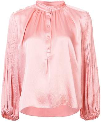 Apiece Apart button down collar blouse