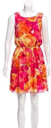 Alice + Olivia Silk Floral Dress