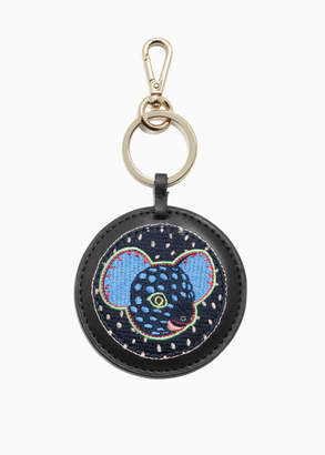 Patch Leather Keyring