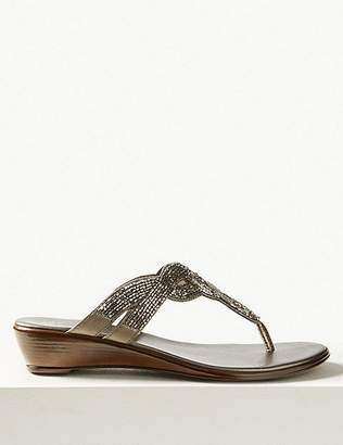 Marks and Spencer Bling Wedge Mule Sandals