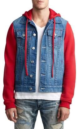 True Religion Trucker Denim & Knit Jacket