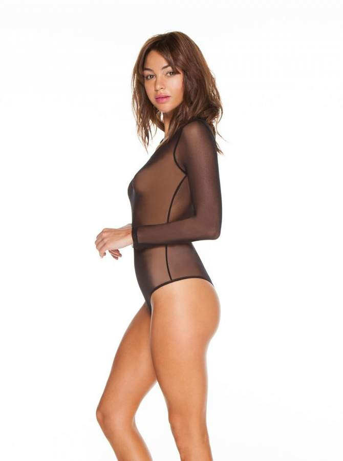 CosabellaSoire Long Sleeve Thong Back Bodysuit
