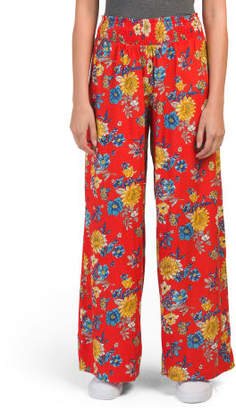 Juniors Smocked Wide Palazzo Pants