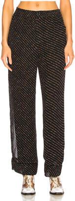 Ganni Printed Georgette Pants in Black | FWRD