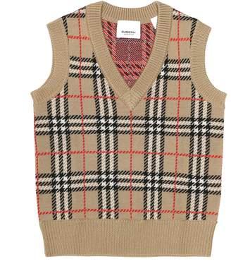 Burberry Mickenzie Check wool sweater vest