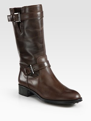 Tod's Leather Motorcycle Boots