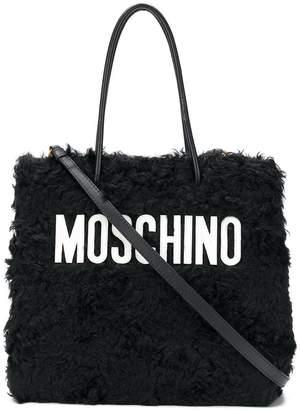 Moschino medium textured logo tote
