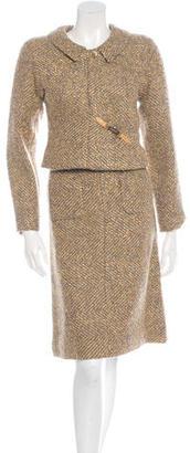 Chanel Metallic Tweed Skirt Suit $895 thestylecure.com