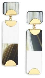 Colorblock Pendant Drop Earrings