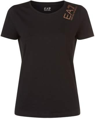 Giorgio Armani Ea7 Glitter Logo T-Shirt