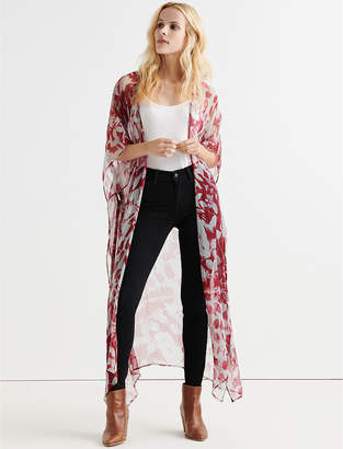 Lucky Brand SUN PRINTED LEAVES DUSTER