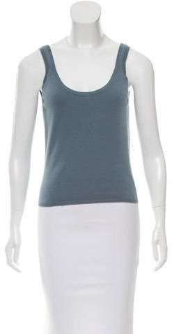 prada Prada Sleeveless Cashmere Top