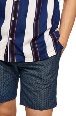 Topman Mini Check Classic Fit Shorts