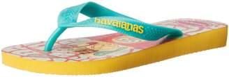 Havaianas Minions Slip-On Thong Strap Sandals, Bandana Yellow, 31-32 BR/2 M US Little Kid