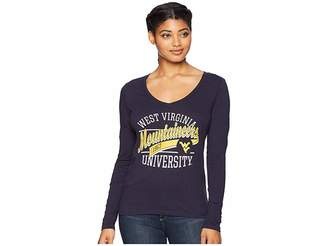 Champion College West Virginia Mountaineers Long Sleeve V-Neck Tee