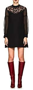 Derek Lam 10 Crosby Women's Lace-Inset Silk Georgette Dress-Black