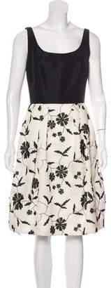 Oscar de la Renta Spring 2012 Embroidered Sleeveless Dress