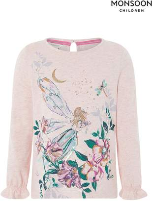 Next Girls Monsoon Pale Pink Freyja Fairy Top