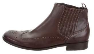 Bottega Veneta Wingtip Ankle Boots