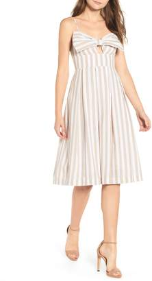 ENGLISH FACTORY Stripe Fit & Flare Dress