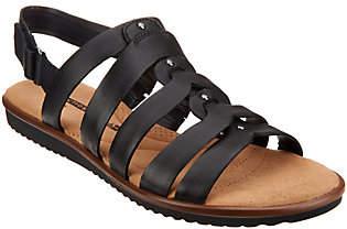 Clarks Leather Stud Detail Sandals -Kele Jasmine