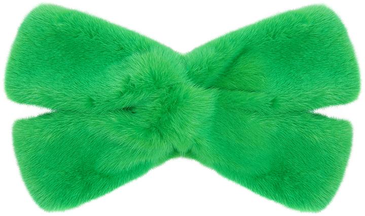 GucciGUCCI Twist-front mink-fur headband