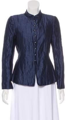 Armani Collezioni Metallic-Accented Silk Jacket