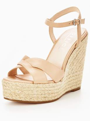 Office Wonder W Leather High Wedge Sandal