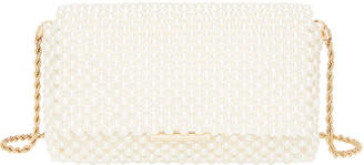 Loeffler Randall Pearl Metallic Bead Clutch Bag